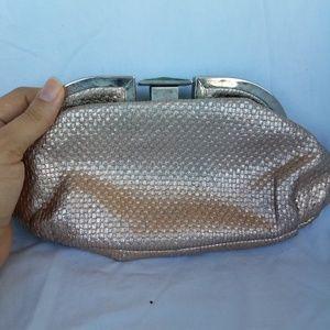 Handbags - Gold weaved clutch